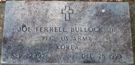 BULLOCK JR. (VETERAN KOREA), JOE FERRELL - Gadsden County, Florida | JOE FERRELL BULLOCK JR. (VETERAN KOREA) - Florida Gravestone Photos