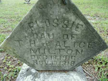 MILTON, FLOSSIE - Gilchrist County, Florida | FLOSSIE MILTON - Florida Gravestone Photos