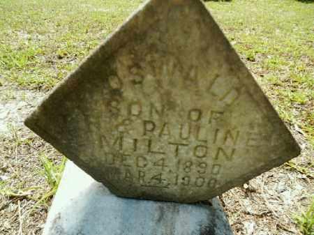 MILTON, OSWALD - Gilchrist County, Florida | OSWALD MILTON - Florida Gravestone Photos