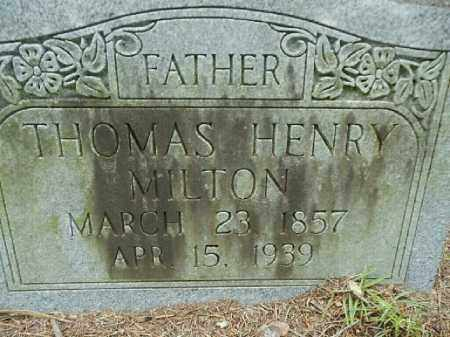 MILTON, THOMAS HENRY - Gilchrist County, Florida   THOMAS HENRY MILTON - Florida Gravestone Photos