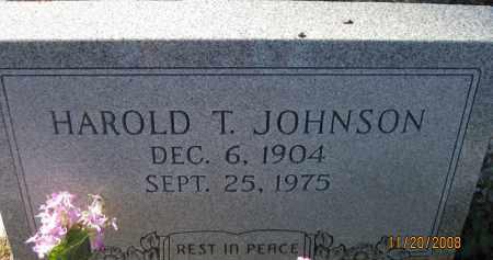 JOHNSON, HAROLD T - Glades County, Florida | HAROLD T JOHNSON - Florida Gravestone Photos