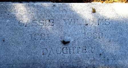 WILLIAMS, CASSIE J - Glades County, Florida | CASSIE J WILLIAMS - Florida Gravestone Photos