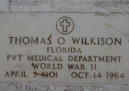 WILKISON (VETERAN WWII), THOMAS OSCAR - Hendry County, Florida | THOMAS OSCAR WILKISON (VETERAN WWII) - Florida Gravestone Photos