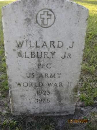 ALBURY, JR (VETERAN WWII), WILLARD J - Hillsborough County, Florida | WILLARD J ALBURY, JR (VETERAN WWII) - Florida Gravestone Photos