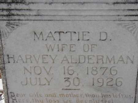 ALDERMAN, MATTIE D. - Hillsborough County, Florida   MATTIE D. ALDERMAN - Florida Gravestone Photos