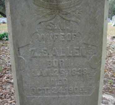 ALLEN, SARAH MOUTEN - Hillsborough County, Florida   SARAH MOUTEN ALLEN - Florida Gravestone Photos