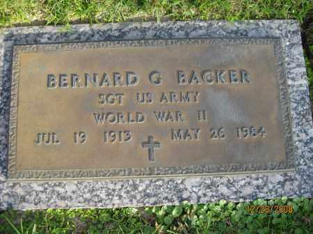 BACKER (VETERAN WWII), BERNARD G - Hillsborough County, Florida   BERNARD G BACKER (VETERAN WWII) - Florida Gravestone Photos