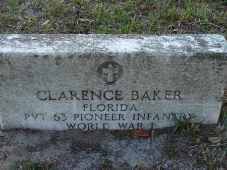 BAKER (VETERAN WWI), CLARENCE - Hillsborough County, Florida   CLARENCE BAKER (VETERAN WWI) - Florida Gravestone Photos