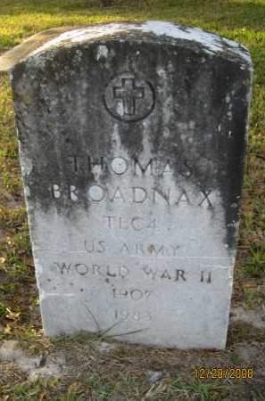 BROADNAX (VETERAN WWII), THOMAS - Hillsborough County, Florida | THOMAS BROADNAX (VETERAN WWII) - Florida Gravestone Photos