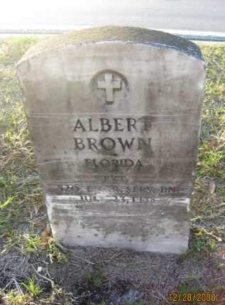 BROWN (VETERAN), ALBERT - Hillsborough County, Florida | ALBERT BROWN (VETERAN) - Florida Gravestone Photos