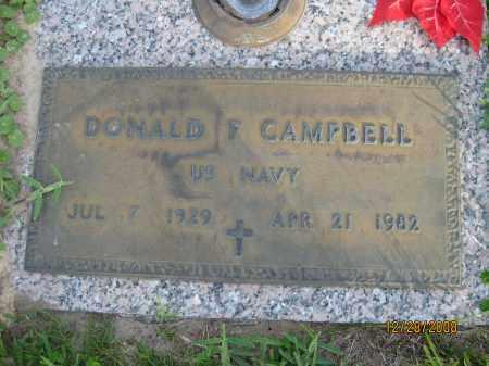 CAMPBELL (VETERAN), DONALD F - Hillsborough County, Florida   DONALD F CAMPBELL (VETERAN) - Florida Gravestone Photos