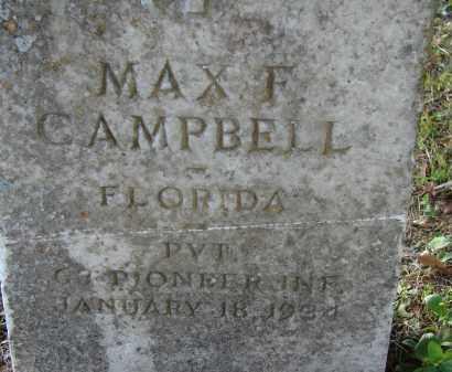 CAMPBELL (VETERAN), MAX F. - Hillsborough County, Florida | MAX F. CAMPBELL (VETERAN) - Florida Gravestone Photos