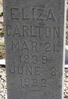 CARLTON, ELIZA - Hillsborough County, Florida | ELIZA CARLTON - Florida Gravestone Photos