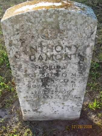 DAMON (VETERAN WWII), ANTHONY - Hillsborough County, Florida | ANTHONY DAMON (VETERAN WWII) - Florida Gravestone Photos