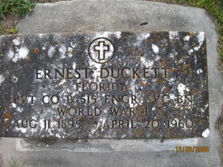 DUCKETT (VETERAN WWII), ERNEST - Hillsborough County, Florida | ERNEST DUCKETT (VETERAN WWII) - Florida Gravestone Photos