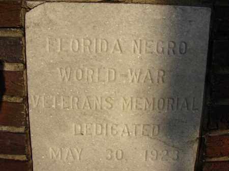 *MEMORIAL PARK, FLORIDA NEGRO WORLD-WAR VETERANS - Hillsborough County, Florida   FLORIDA NEGRO WORLD-WAR VETERANS *MEMORIAL PARK - Florida Gravestone Photos