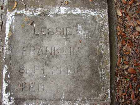 FRANKLIN, LESSIE - Hillsborough County, Florida | LESSIE FRANKLIN - Florida Gravestone Photos