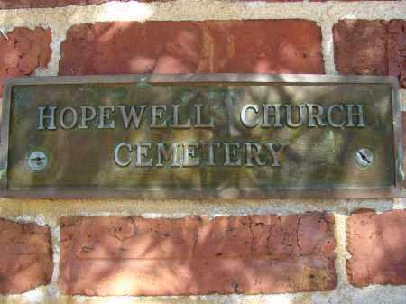 *HOPEWELL CHURCH, SIGN - Hillsborough County, Florida | SIGN *HOPEWELL CHURCH - Florida Gravestone Photos