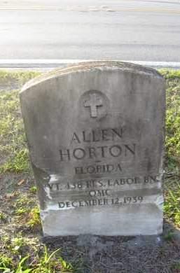 HORTON (VETERAN), ALLEN - Hillsborough County, Florida | ALLEN HORTON (VETERAN) - Florida Gravestone Photos