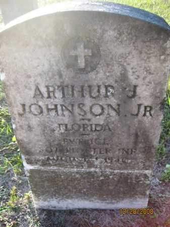 JOHNSON, JR (VETERAN), ARTHUR J - Hillsborough County, Florida | ARTHUR J JOHNSON, JR (VETERAN) - Florida Gravestone Photos