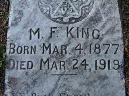 KING, M. F. - Hillsborough County, Florida | M. F. KING - Florida Gravestone Photos
