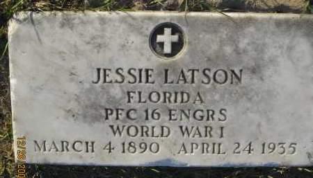 LATSON (VETERAN WWI), JESSIE - Hillsborough County, Florida | JESSIE LATSON (VETERAN WWI) - Florida Gravestone Photos