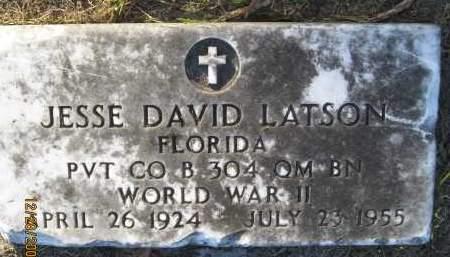 LATSON (VETERAN WWII), JESSE DAVID - Hillsborough County, Florida | JESSE DAVID LATSON (VETERAN WWII) - Florida Gravestone Photos