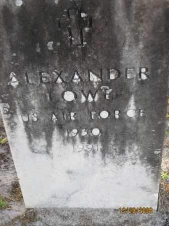 LOWE (VETERAN), ALEXANDER - Hillsborough County, Florida | ALEXANDER LOWE (VETERAN) - Florida Gravestone Photos