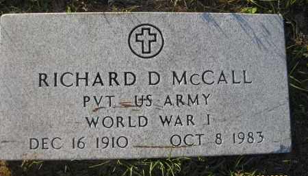 MCCALL (VETERAN WWI), RICHARD D - Hillsborough County, Florida | RICHARD D MCCALL (VETERAN WWI) - Florida Gravestone Photos