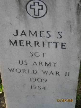 MERRITTE (VETERAN WWII), JAMES S - Hillsborough County, Florida | JAMES S MERRITTE (VETERAN WWII) - Florida Gravestone Photos
