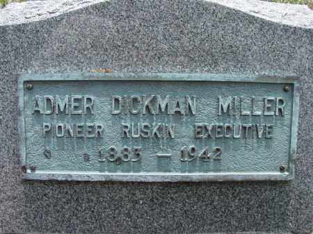 MILLER, ADMER DICKMAN - Hillsborough County, Florida | ADMER DICKMAN MILLER - Florida Gravestone Photos