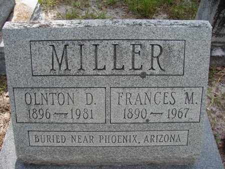 MILLER, OLNTON D. - Hillsborough County, Florida | OLNTON D. MILLER - Florida Gravestone Photos