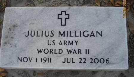 MILLIGAN (VETERAN WWII), JULIUS - Hillsborough County, Florida   JULIUS MILLIGAN (VETERAN WWII) - Florida Gravestone Photos