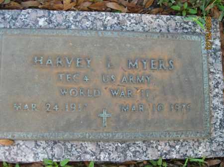 MYERS (VETERAN WWII), HARVEY L - Hillsborough County, Florida | HARVEY L MYERS (VETERAN WWII) - Florida Gravestone Photos