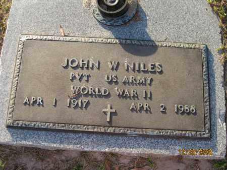 NILES (VETERAN WWII), JOHN W - Hillsborough County, Florida   JOHN W NILES (VETERAN WWII) - Florida Gravestone Photos