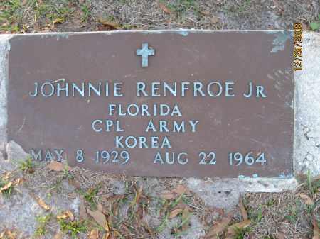 RENFROE, JR (VETERAN KOR), JOHNNIE - Hillsborough County, Florida | JOHNNIE RENFROE, JR (VETERAN KOR) - Florida Gravestone Photos