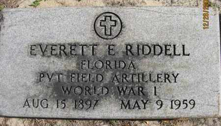 RIDDELL (VETERAN WWI), EVERETT E (NEW) - Hillsborough County, Florida   EVERETT E (NEW) RIDDELL (VETERAN WWI) - Florida Gravestone Photos