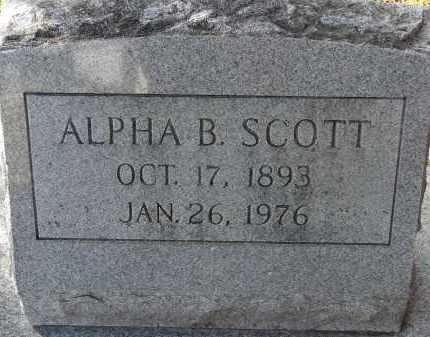 SCOTT, ALPHA BETTY - Hillsborough County, Florida | ALPHA BETTY SCOTT - Florida Gravestone Photos