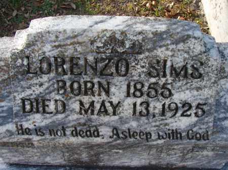 SIMS, LORENZO - Hillsborough County, Florida | LORENZO SIMS - Florida Gravestone Photos