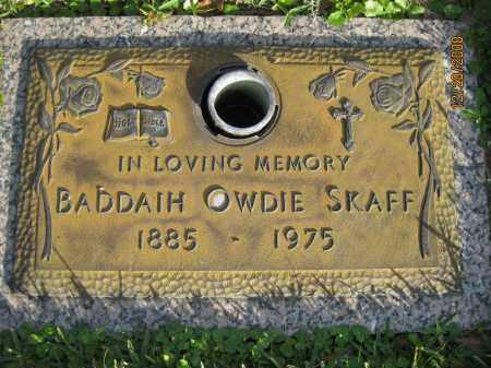 SKAFF, BADDAIH OWDIE - Hillsborough County, Florida | BADDAIH OWDIE SKAFF - Florida Gravestone Photos