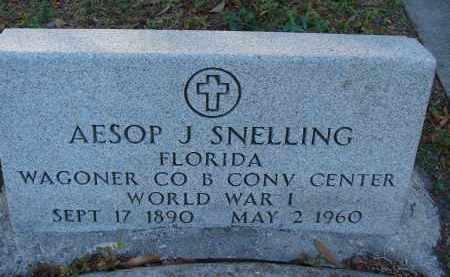 SNELLING (VETERAN WWI), AESOP J. - Hillsborough County, Florida   AESOP J. SNELLING (VETERAN WWI) - Florida Gravestone Photos