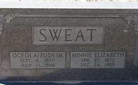 SWEAT, MINNIE ELIZABETH - Hillsborough County, Florida | MINNIE ELIZABETH SWEAT - Florida Gravestone Photos