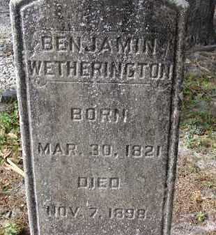 WETHERINGTON, BENJAMIN - Hillsborough County, Florida   BENJAMIN WETHERINGTON - Florida Gravestone Photos