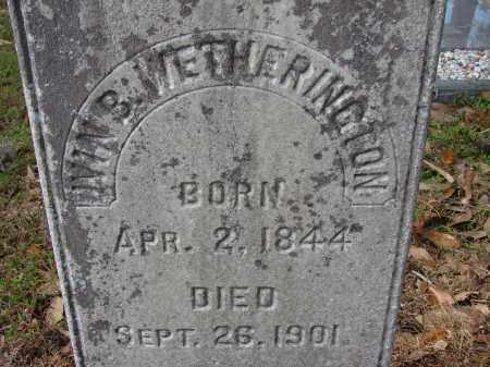 WETHERINGTON, IVIN B. - Hillsborough County, Florida | IVIN B. WETHERINGTON - Florida Gravestone Photos