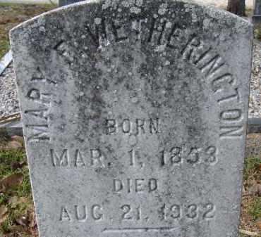 WETHERINGTON, MARY E. - Hillsborough County, Florida   MARY E. WETHERINGTON - Florida Gravestone Photos