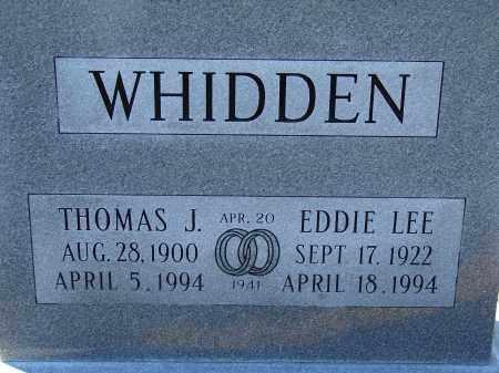 WHIDDEN, THOMAS J. - Hillsborough County, Florida | THOMAS J. WHIDDEN - Florida Gravestone Photos