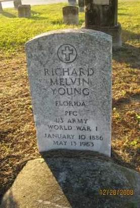 YOUNG (VETERAN WWI), RICHARD MELVIN - Hillsborough County, Florida | RICHARD MELVIN YOUNG (VETERAN WWI) - Florida Gravestone Photos