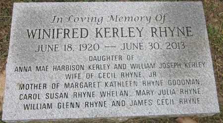 RHYNE, WINIFRED - Jackson County, Florida | WINIFRED RHYNE - Florida Gravestone Photos
