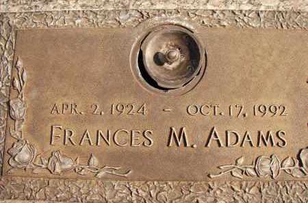ADAMS, FRANCES M. - Lee County, Florida   FRANCES M. ADAMS - Florida Gravestone Photos