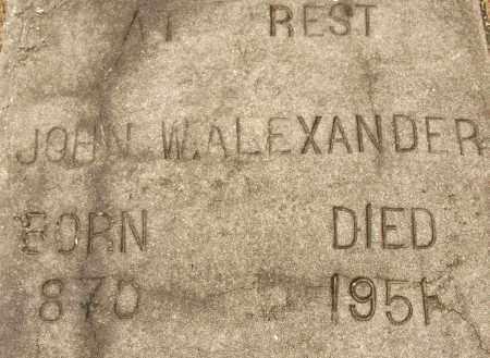 ALEXANDER, JOHN W - Lee County, Florida   JOHN W ALEXANDER - Florida Gravestone Photos